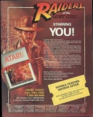Raiders of the Lost Ark atari ad