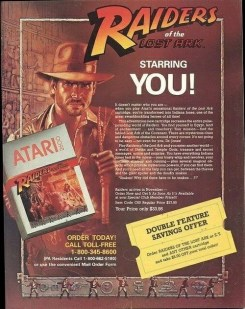 Raiders of the Lost Ark atari ad