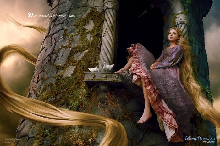 Taylor Swift as Rapunzel in Tangled