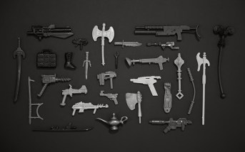 Classic toy weapons wallpaper