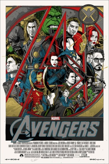Tyler Stout's The Avengers poster