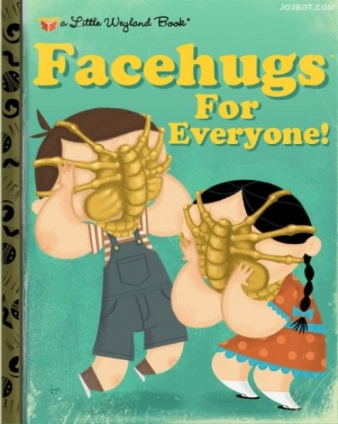 FACEHUGS FOR EVERYBODY golden book