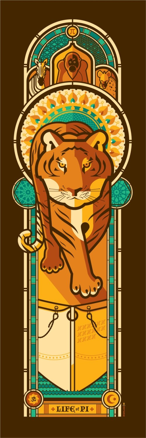 LIFE OF PI by artist Tom Whalen