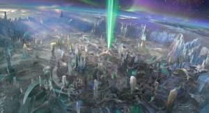 Green Lantern Concept Art - OA City Beams