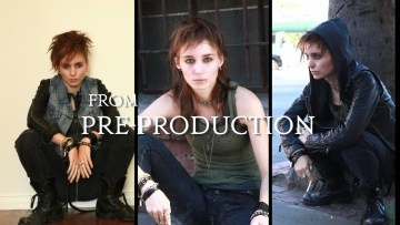 Pre-production photos of Rooney Mara as Lisbeth Salander (in progress) from The Girl With The Dragon Tattoo