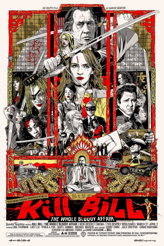 Tyler Stout's Kill Bill poster