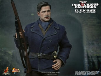 Hot Toys Lt Aldo Raine Inglourious Basterds Collectible Figure