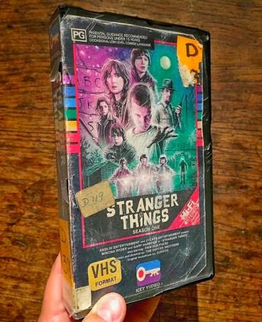 Modern VHS Movie Covers - Stranger Things