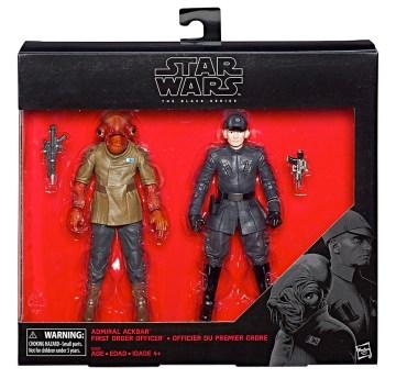 Star Wars The Last Jedi Black Series - Admiral Ackbar and First Order Officer