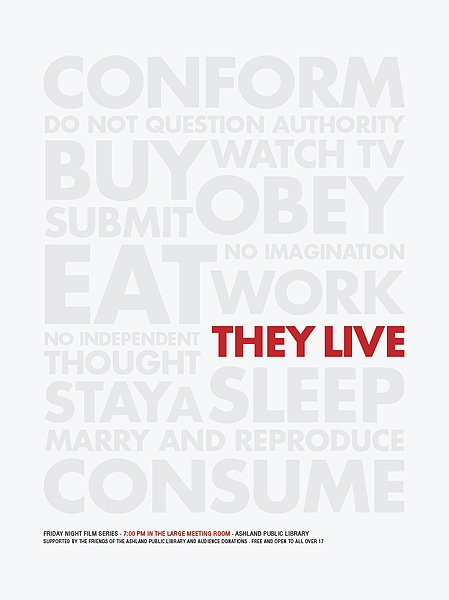 Brandon Schaefer's They Live Movie Poster