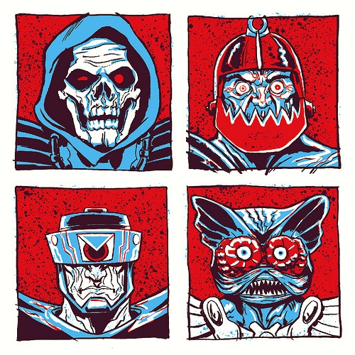 Under The Influence Art Show: Masters of the Universe - He-Man - The Good by Alex Fugazi