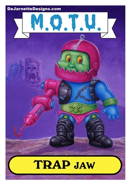 Under The Influence Art Show: Masters of the Universe -  Garbage Pail Kids Parody by Layron DeJarnette
