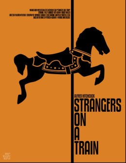 Mario Graciotti's Poster for Alfred Hitchcock's Strangers on a Train