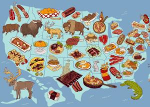 United States Food Map