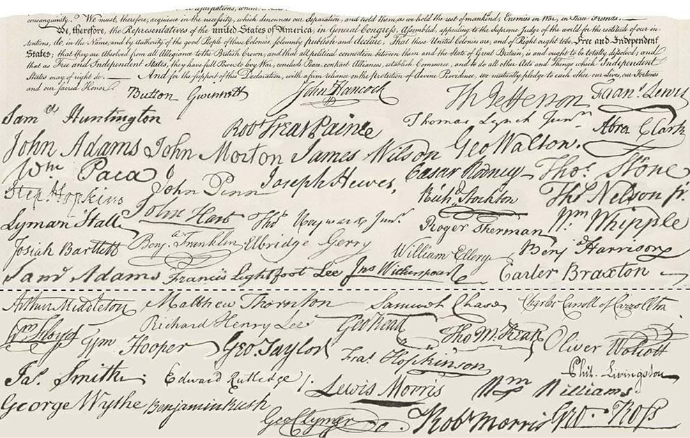 John Hancock\u0027s Declaration of Independence signature Was it too big?
