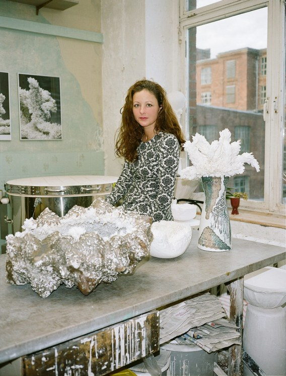 Claudia Biehnein her studio. Photo © Maxime Ballesteros