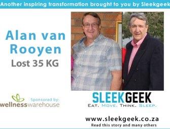 53 year old Alan van Rooyen's loses 35kgs!