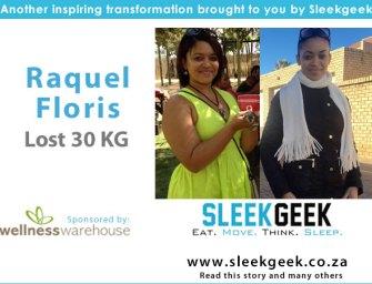 Raquel Floris, a young mom makes no more excuses  and sheds 30kgs