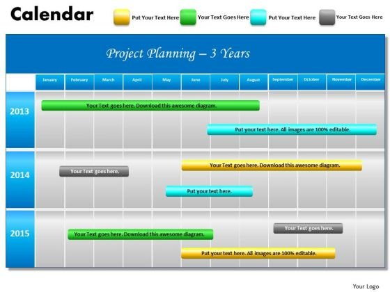 Calendar PowerPoint templates, Slides and Graphics - powerpoint calendar template