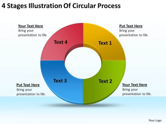 4 Stages Illustration Of Circular Process Fitness Business Plan