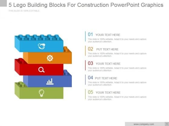 5 Lego Building Blocks For Construction Ppt PowerPoint Presentation