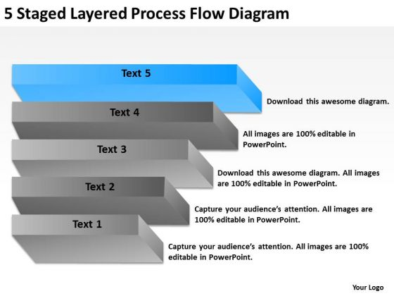 5 Staged Layered Process Flow Diagram Ppt Food Truck Business Plan - food truck business plan