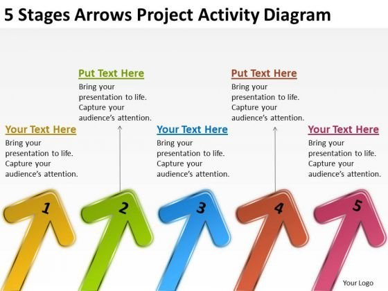 5 Stages Arrows Project Activity Diagram Small Business Plan - Small Business Plan