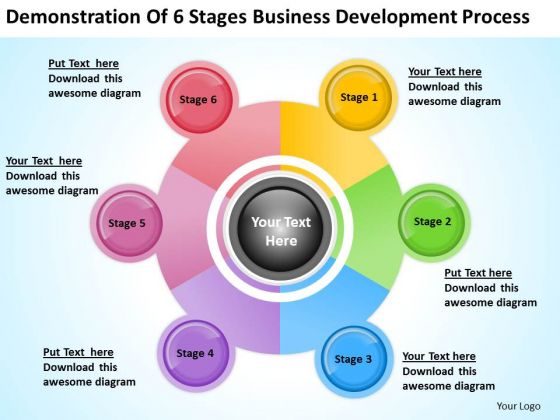 6 Stages Business Development Process Ppt Plan Outline PowerPoint