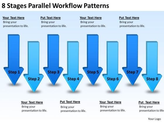8 Stages Parallel Workflow Patterns Business Development Plan - business development plan template