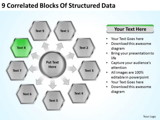 9 Correlated Blocks Of Structured Data Ppt Hotel Business Plan