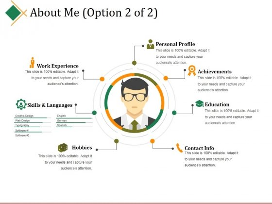 About Me Template 2 Ppt PowerPoint Presentation Gallery Information