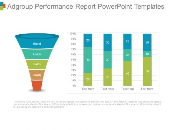 Adgroup Performance Report Powerpoint Templates - PowerPoint Templates