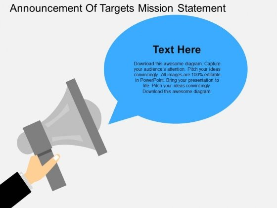 Announcement Of Targets Mission Statement Powerpoint Template - announcement template