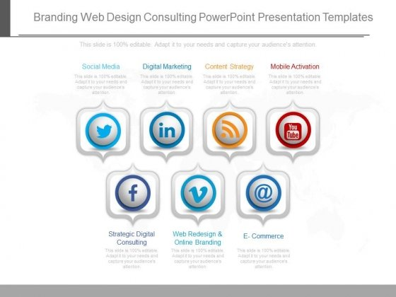 Branding Web Design Consulting Powerpoint Presentation Templates - Consulting Presentation Templates