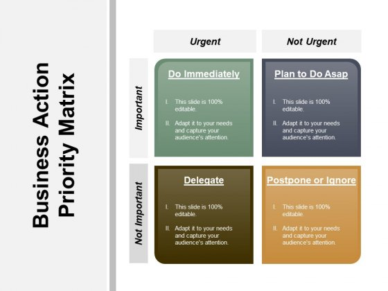 Business Action Priority Matrix Ppt PowerPoint Presentation Pictures