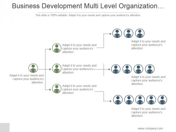 Business Development Multi Level Organization Hierarchy Ppt