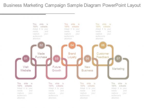 Business Marketing Campaign Sample Diagram Powerpoint Layout