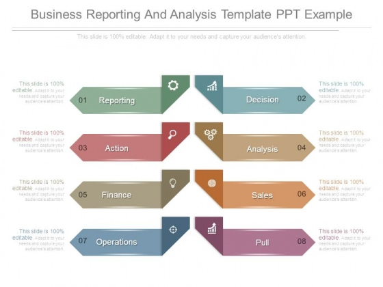 Business Reporting And Analysis Template Ppt Example - PowerPoint