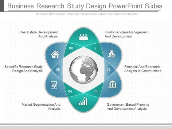 Business Research Study Design Powerpoint Slides - PowerPoint Templates