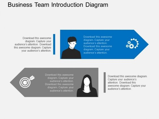 Business Team Introduction Diagram Powerpoint Template - PowerPoint