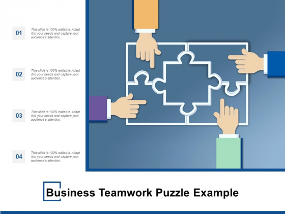 Business Teamwork Puzzle Example Ppt PowerPoint Presentation Model