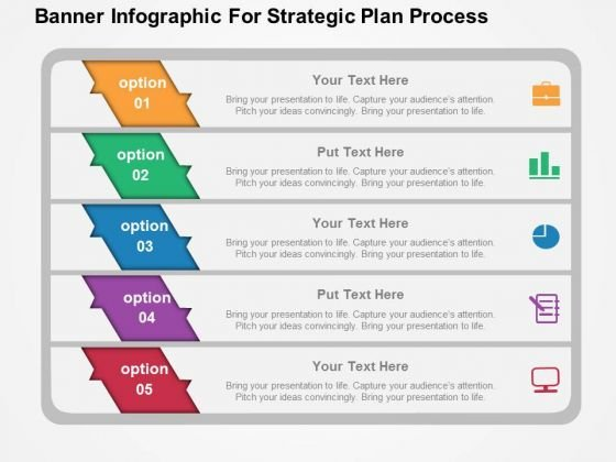 Banner Infographic For Strategic Plan Process PowerPoint Template