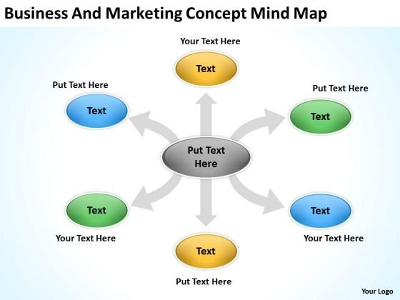 Business And Marketing Concept Mind Map Ppt Subway Plan PowerPoint