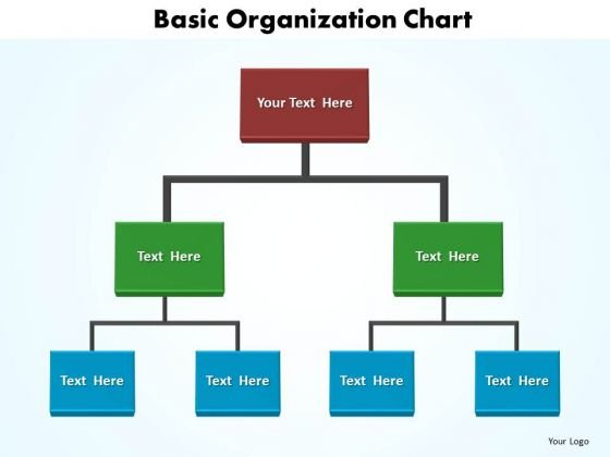 Business Company PowerPoint Templates Business Basic Organization - business organizational chart