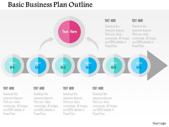 Business Diagram Basic Business Plan Outline Presentation Template
