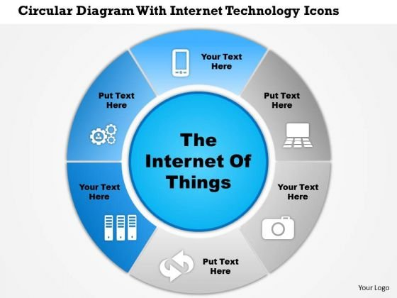 Business Diagram Circular Diagram With Internet Technology Icons