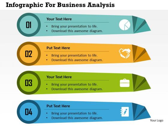 Business Diagram Infographic For Business Analysis Presentation
