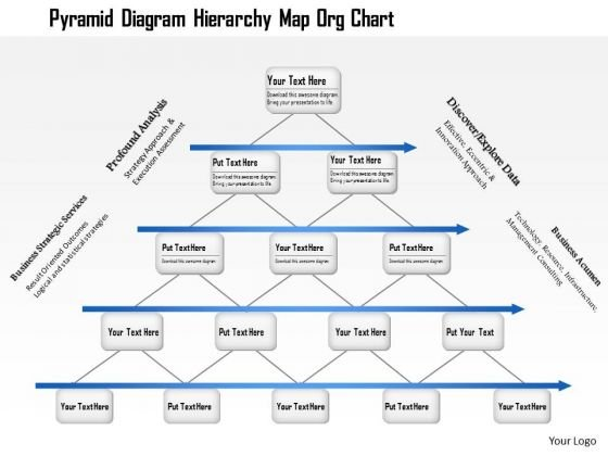 Business Framework Pyramid Diagram Hierarchy Map Org Chart