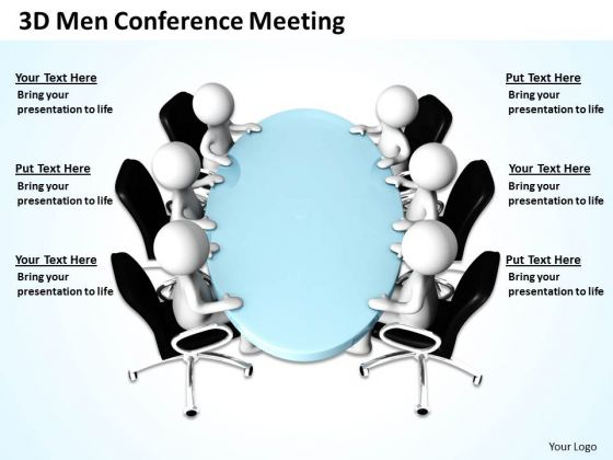 Business Logic Diagram 3d Men Conference Meeting PowerPoint