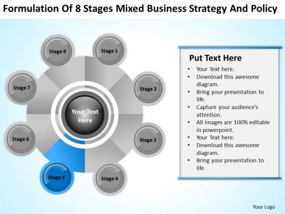 Business Logic Diagram Of 8 Stages Mixed Strategy And Policy